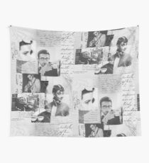 Creative Portrait Collage of 1950's Icons Wall Tapestry
