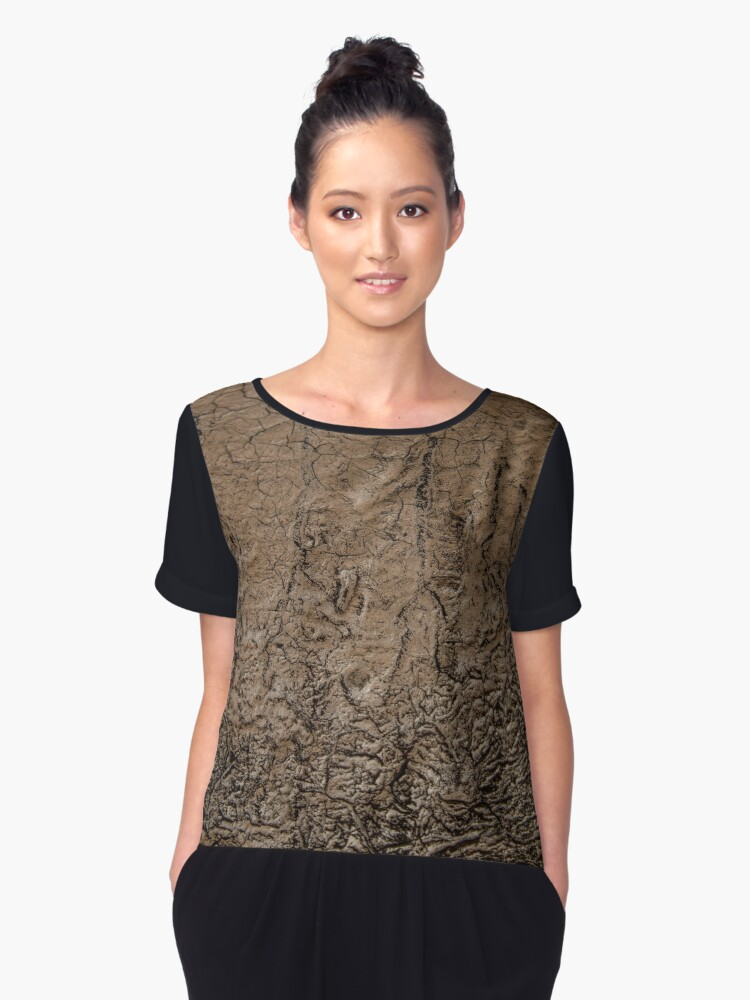 Pipeline Abstract Women's Chiffon Top Front