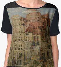 Pieter Bruegel the Elder  - The Tower of Babel  Women's Chiffon Top