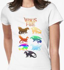 Flügel der Feuerstämme Tailliertes T-Shirt für Frauen