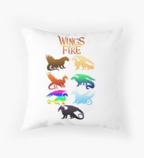 Wings of Fire Tribes Throw Pillow