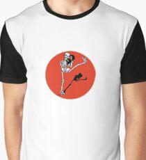Skelett Kickboxer Graphic T-Shirt