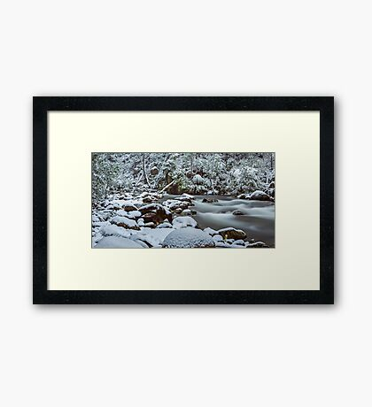White on Green Framed Print