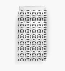 Black circles pattern Duvet Cover