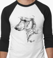 Poodle Drawing Men's Baseball ¾ T-Shirt
