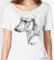 Poodle Drawing Women's Relaxed Fit T-Shirt