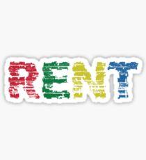 Rent the musical Sticker