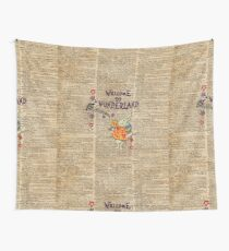Rabbit Welcome To .. Alice In Wonderland Wall Tapestry