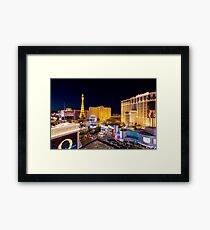 The Strip, at night Las Vegas, Nevada, USA Framed Print