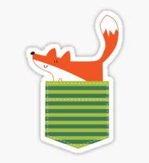 fox in my pocket Sticker