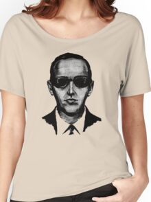 D.B. Cooper - Black and White  Women's Relaxed Fit T-Shirt