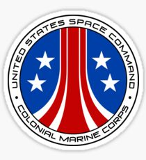 United States Colonial Marine Corps Insignia - Aliens Sticker