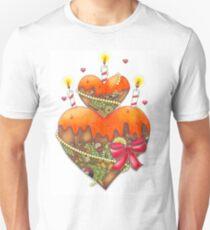 Gateau coeur Unisex T-Shirt