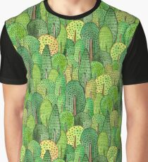 Watercolor forest Graphic T-Shirt