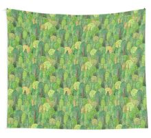 Watercolor forest Wall Tapestry
