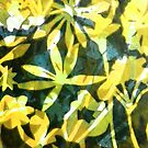 "Lemon and Green Flower Pattern by Belinda ""BillyLee"" NYE (Printmaker)"