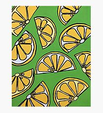 Wedged Lemon Photographic Print