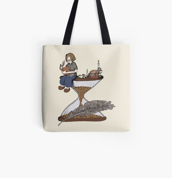 Feather & hourglass 1 All Over Print Tote Bag