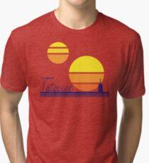 Tatooine Sunset Vintage 80s Design Style Tri-blend T-Shirt