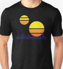 Tatooine Sunset Vintage 80s Design Style Unisex T-Shirt