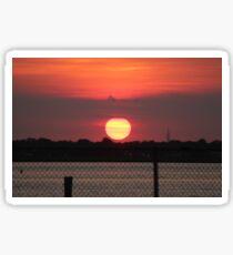Island Park Big Sun Ball Sunset Sticker