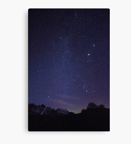 Milky Way Over Canisp Canvas Print