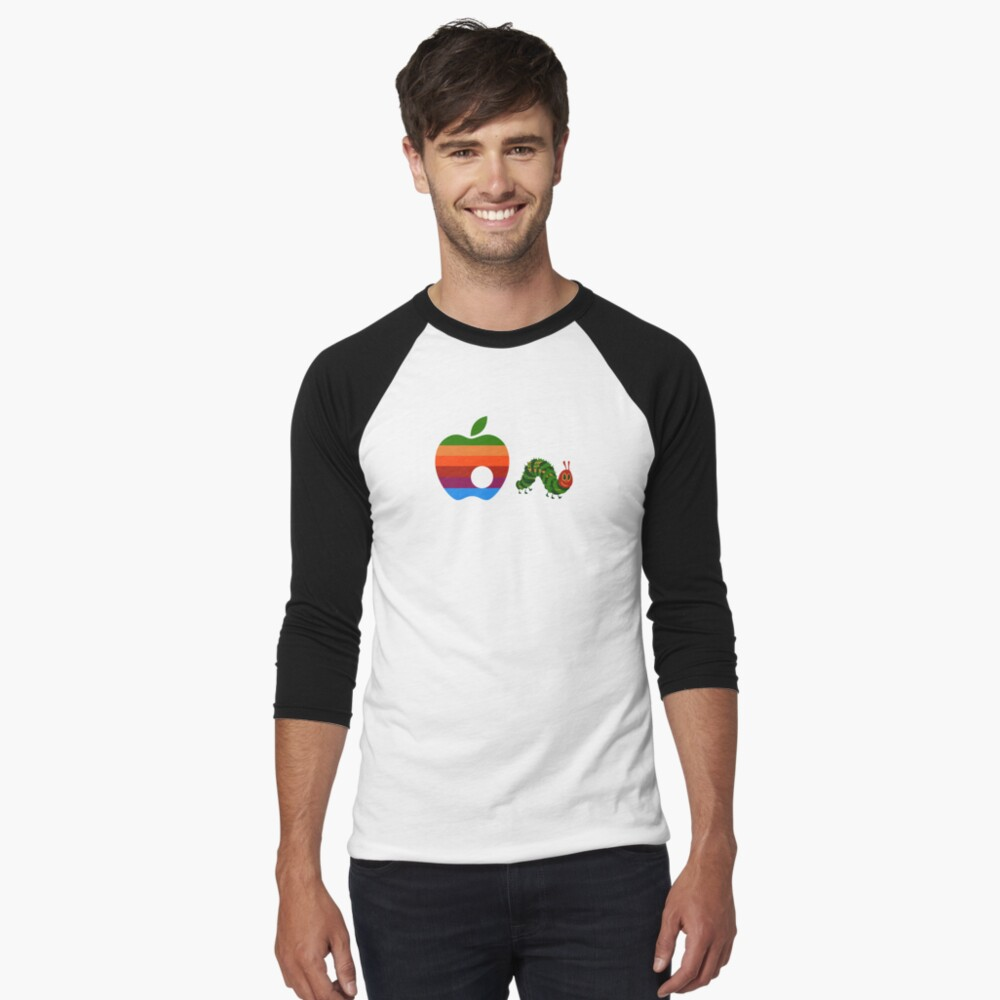 Very Hungry for Apple Men's Baseball ¾ T-Shirt Front