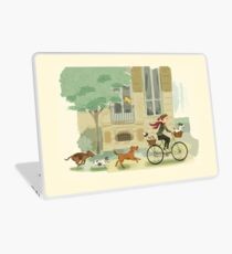 Bicycles and Dogs Laptop Skin