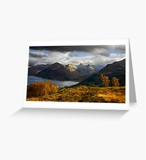 The Five Sisters of Kintail Greeting Card