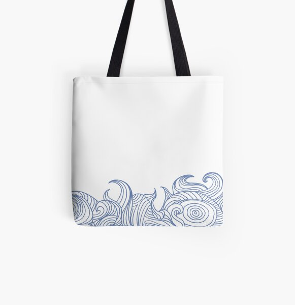 Wave All Over Print Tote Bag