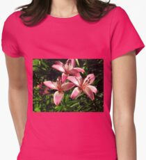 lovely pink lillies Women's Fitted T-Shirt