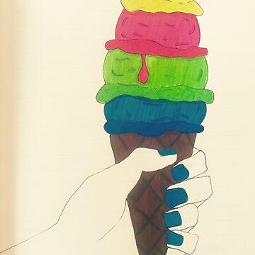 Ice-Cream Illustration  by sofiaarvanius