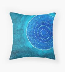 Blue World original painting Throw Pillow