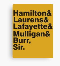 The Hamilton Crew Canvas Print