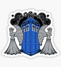 Weeping Angels and the Tardis Sticker