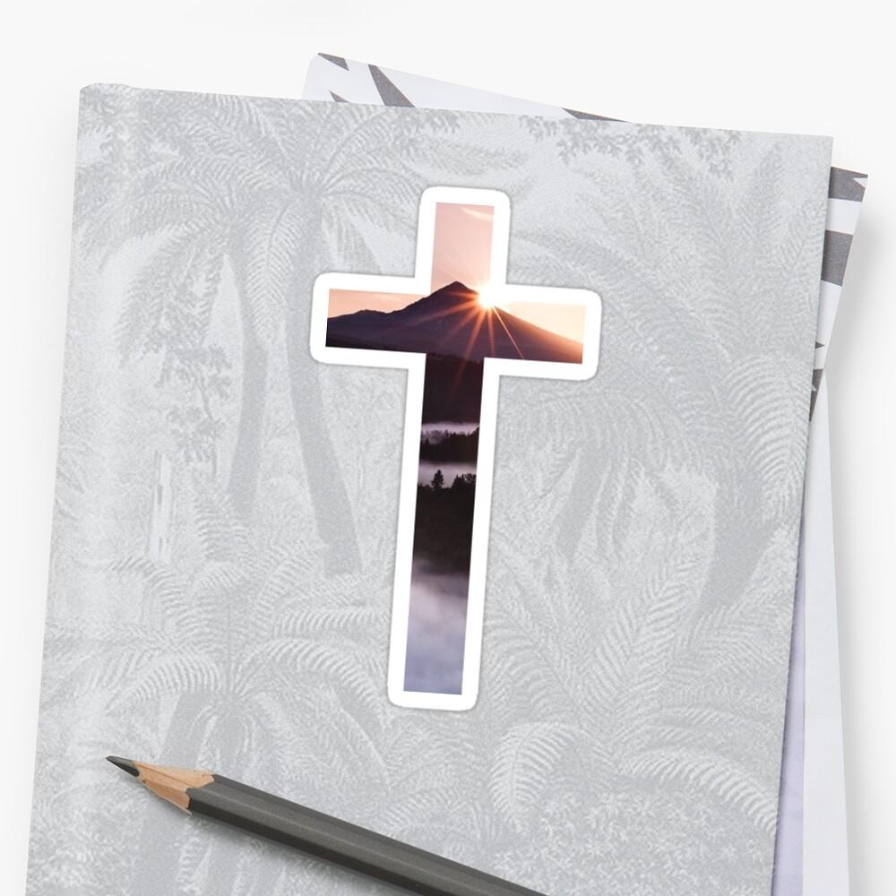 Christliches Kreuz Sticker
