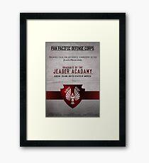 Jeager Acadamy Graduate Certificate  Framed Print