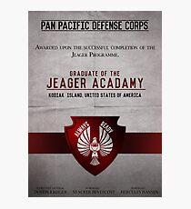 Jeager Acadamy Graduate Certificate  Photographic Print