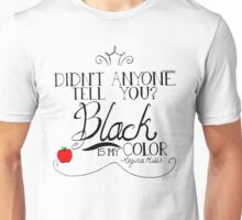 Black is my color (black font, American spelling) Unisex T-Shirt