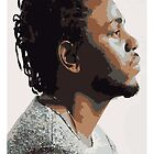 KENDRICK LAMAR - PORTRAIT ILLUSTRATION  by cdoyne
