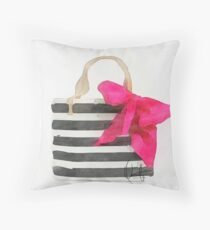 French Outing Throw Pillow