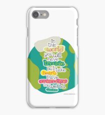 Overcome the Earth iPhone Case/Skin