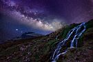 The creek and the milky way by Delfino