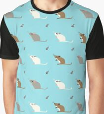 Gerbil Pattern Graphic T-Shirt