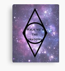 Skyrim Thieves Guild/Nightingale Symbol and Saying Canvas Print