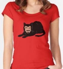 Vlad the Cat (Green) Women's Fitted Scoop T-Shirt