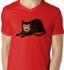 Vlad the Cat (Green) V-Neck T-Shirt