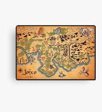 Johto Map Canvas Print