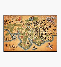 Johto Map Photographic Print