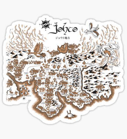 Johto Map Sticker